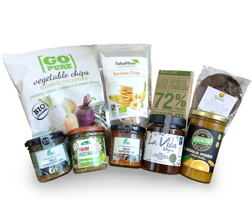 Entrega a domicilio en Barcelona de productos veganos bio: organic vegan